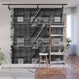 Fire escapes at noon Wall Mural