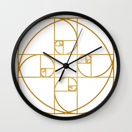 Golden Sprout Wall Clock