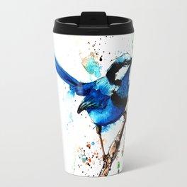 Eastern Blue Wren Travel Mug