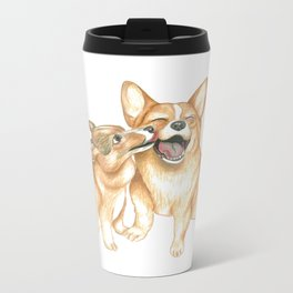 Corgi and Bess Metal Travel Mug