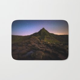 The Giants Causeway with the stars   Print (RR 269) Bath Mat