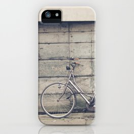 bikes in lucca  Tuscany Italy iPhone Case