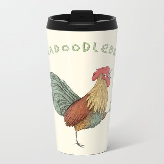 Cockadoodlebrew!! Metal Travel Mug