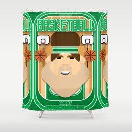 Basketball Green - Court Dunkdribbler - Bob version Shower Curtain
