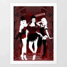 Red Steam Cabaretto Art Print