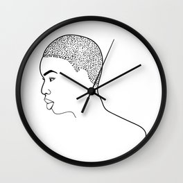 Beautiful Afro Profile Wall Clock