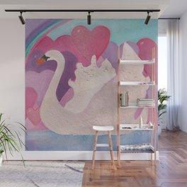 Iced Swan Wall Mural