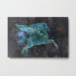 Pegasus and Galaxy Metal Print