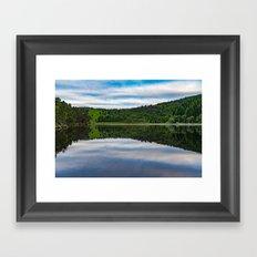 Quiet lake in Scotland Framed Art Print