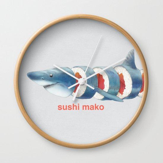 Sushi Mako (color option) Wall Clock