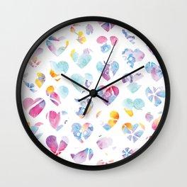 HeartFlowers Wall Clock