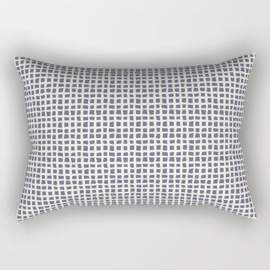 Blue Scribbles Pattern 07 Rectangular Pillow
