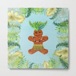 Tropical Gingerbread Metal Print