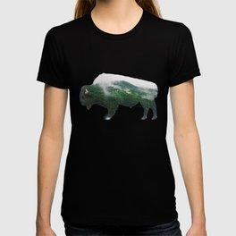 Bison double exposure T-shirt