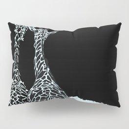Art print: The giraffes in Blue Pillow Sham