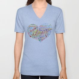 Library Heart Unisex V-Neck