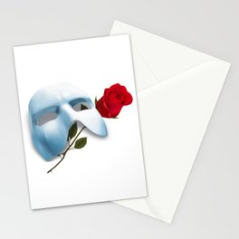 Mask and Rose Stationery Cards