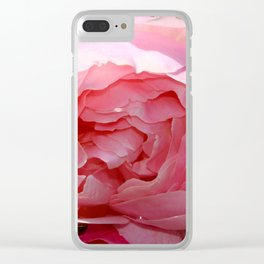 Pink Rose Clear iPhone Case