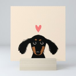 Dachshund Love Mini Art Print