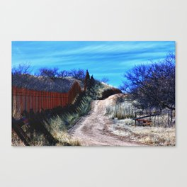 Border Fence Two Canvas Print