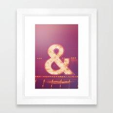 Neon Ampersand Framed Art Print