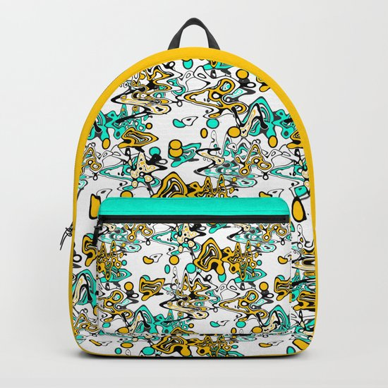 Multicolored abstract pattern Backpack
