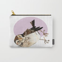 Female Sparrow in Pink (c) 2017 Carry-All Pouch