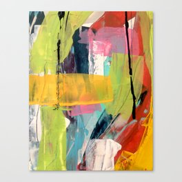 Hopeful[2] - a bright mixed media abstract piece Canvas Print