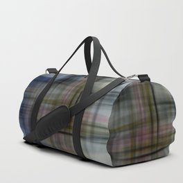 Deconstructed Abstract Scottish Plaid Pattern Duffle Bag