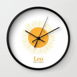 Leo Zodiac Sign Birthday Wall Clock