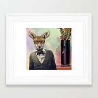 ben giles Framed Art Prints featuring BEN by Hagara Stuff