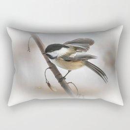 January Chickadee Rectangular Pillow