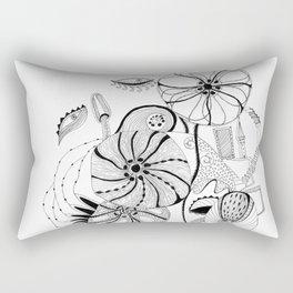 Mask in flowers. Rectangular Pillow