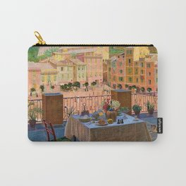 My lunch table in Portofino Italian Riviera by Kristian Zahrtmann Carry-All Pouch