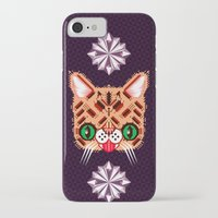 lil bub iPhone & iPod Cases featuring Lil Bub Geometric Pattern by chobopop