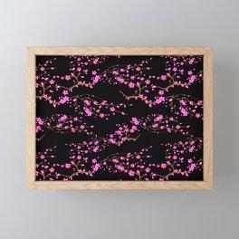 Japanese,sakura tree.Pink cherry blossom flower. Framed Mini Art Print