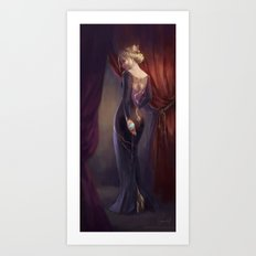 The Lady in the Dragon Dress Art Print