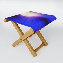 Blue Infinity Folding Stool