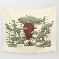 cloud Wall Tapestries featuring Cloud Watching  by Terry Fan