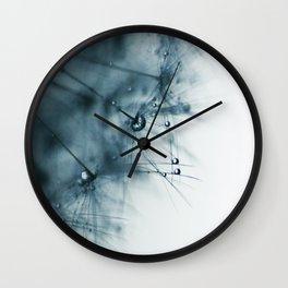 dandelion blue VIII Wall Clock