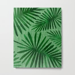 Emerald Retro Nature Print Metal Print