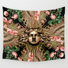 Rose Garden Gate Wall Tapestry