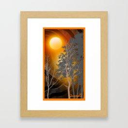 Sunset on  110 Framed Art Print