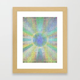 Surya Invocation (Sun) #2 - Magick Square Yantra Tantra Framed Art Print