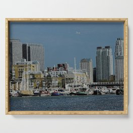 London Cityscape - RIVERBOATS Serving Tray
