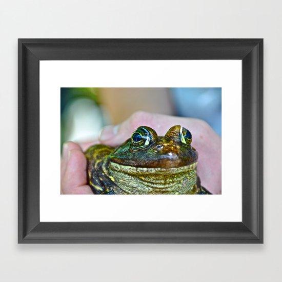 Frog Eyes Framed Art Print