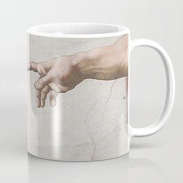 THE CREATION OF ADAM - MICHELANGELO Coffee Mug