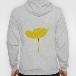 Yellow Poppy White Background #decor #society6 #buyart Hoody