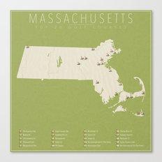 Massachusetts Golf Courses Canvas Print
