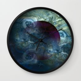 """Blue clouds on Saturn"" Wall Clock"